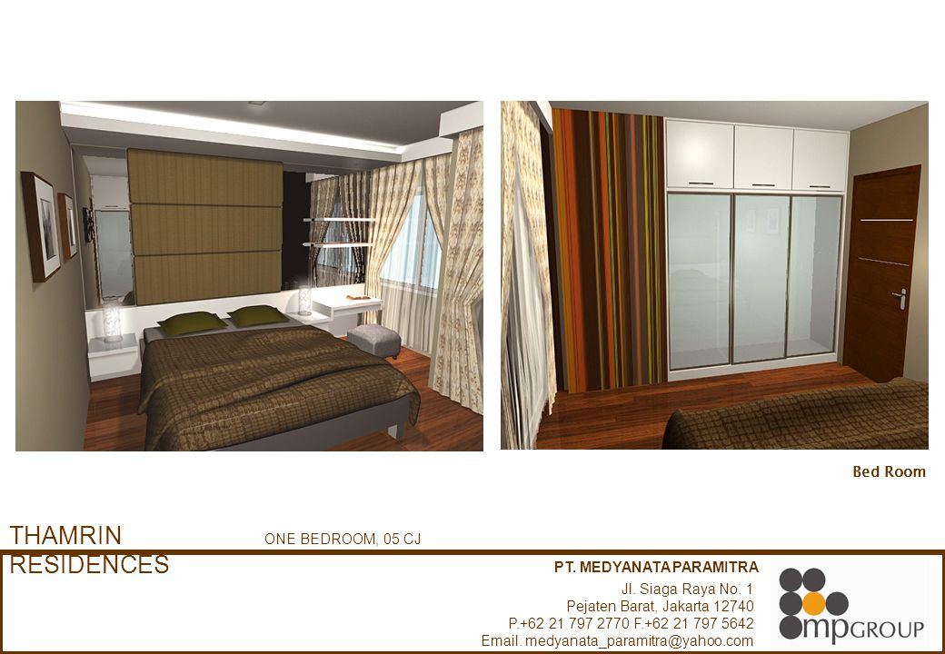 THAMRIN RESIDENCES Bed Room ONE BEDROOM, 05 CJ PT. MEDYANATA PARAMITRA