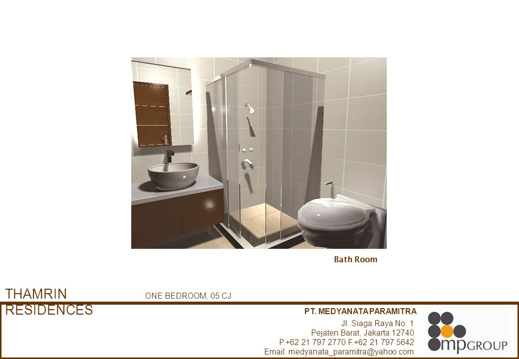 THAMRIN RESIDENCES Bath Room ONE BEDROOM, 05 CJ