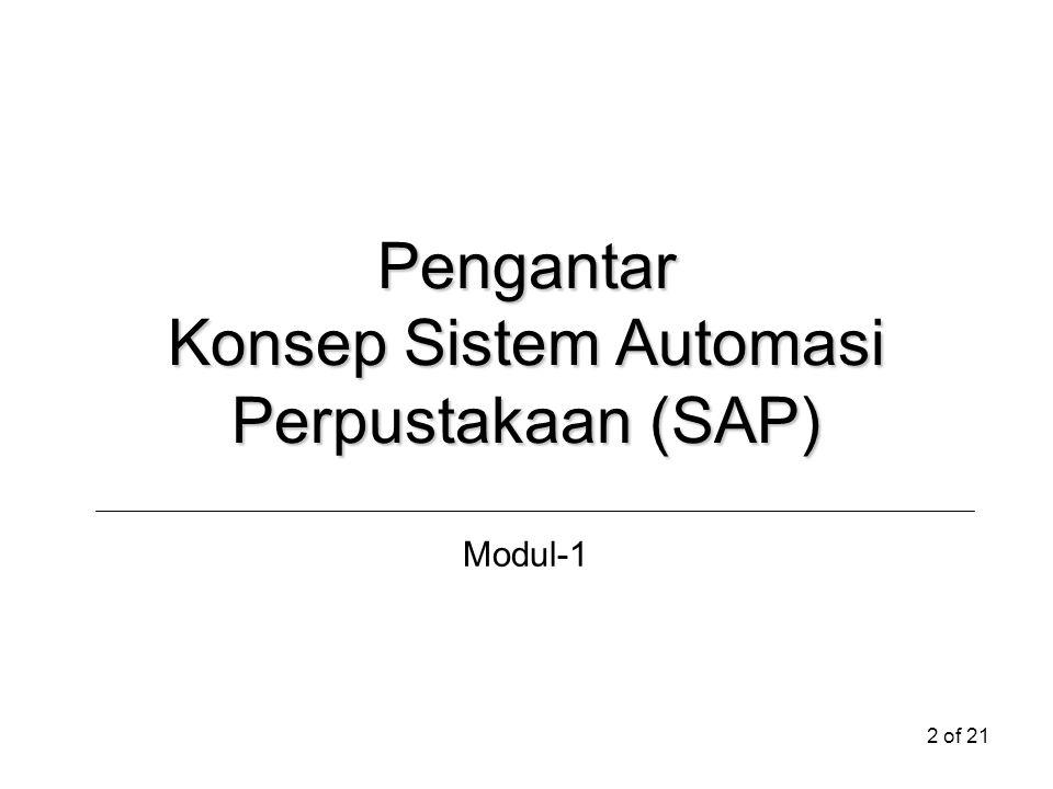 Konsep Sistem Automasi Perpustakaan (SAP)