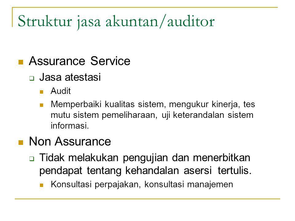 Struktur jasa akuntan/auditor
