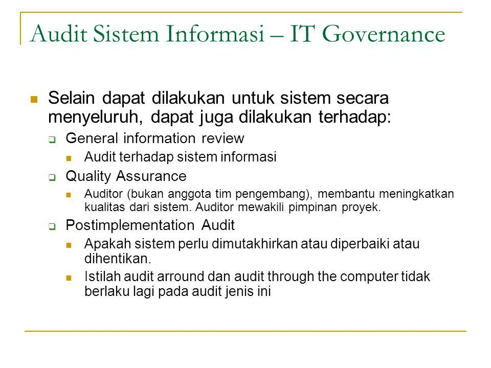 Audit Sistem Informasi – IT Governance