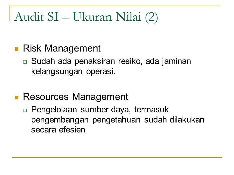 Audit SI – Ukuran Nilai (2)
