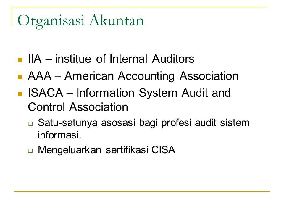 Organisasi Akuntan IIA – institue of Internal Auditors