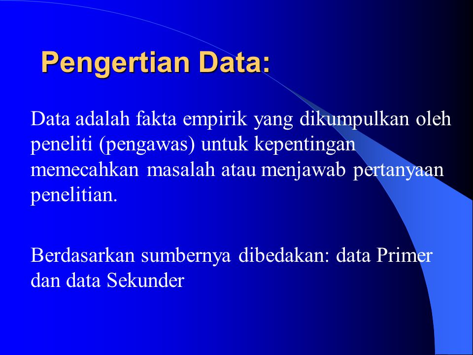 Pengertian Data: