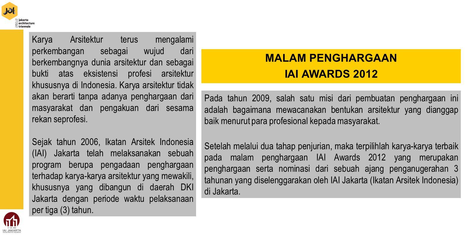 MALAM PENGHARGAAN IAI AWARDS 2012