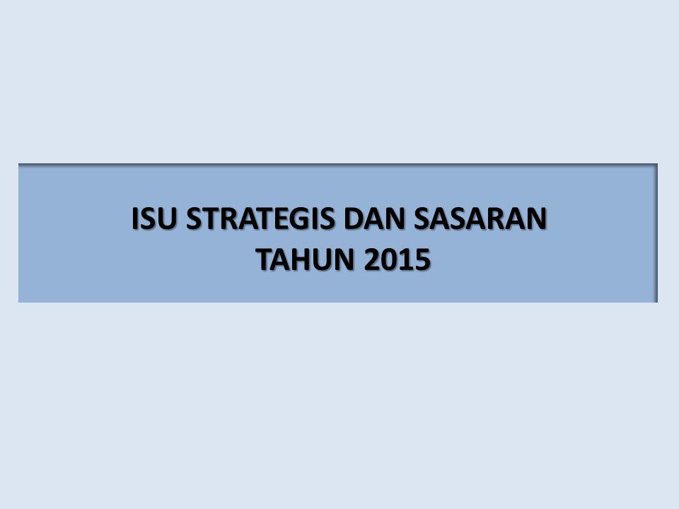ISU STRATEGIS DAN SASARAN TAHUN 2015