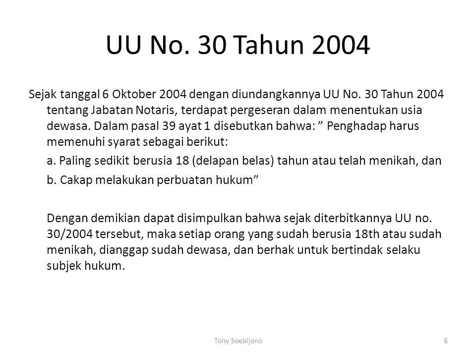 UU No. 30 Tahun 2004