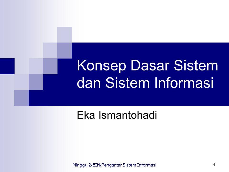 Konsep Dasar Sistem dan Sistem Informasi