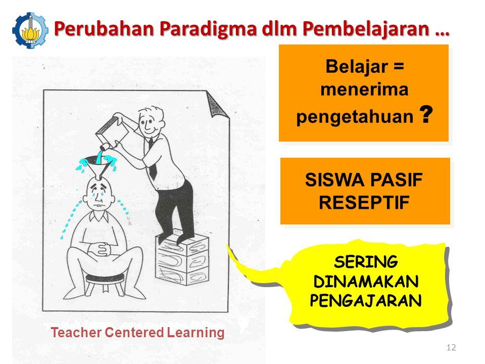 Perubahan Paradigma dlm Pembelajaran …