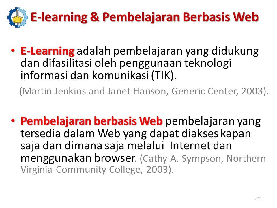 E-learning & Pembelajaran Berbasis Web