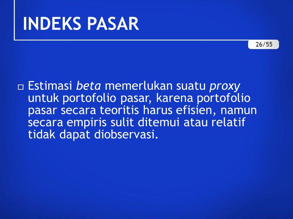 INDEKS PASAR 26/55.