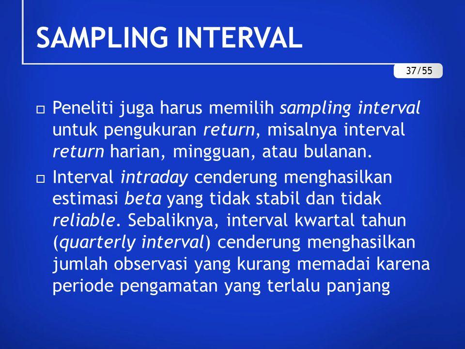 SAMPLING INTERVAL 37/55.