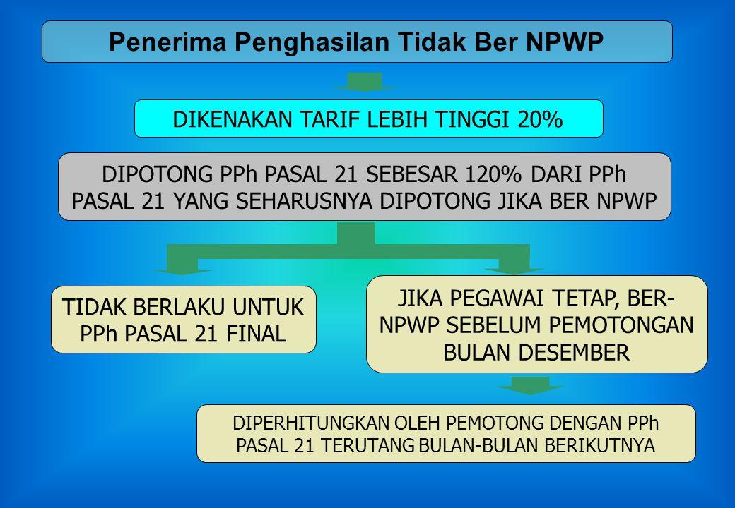 Penerima Penghasilan Tidak Ber NPWP