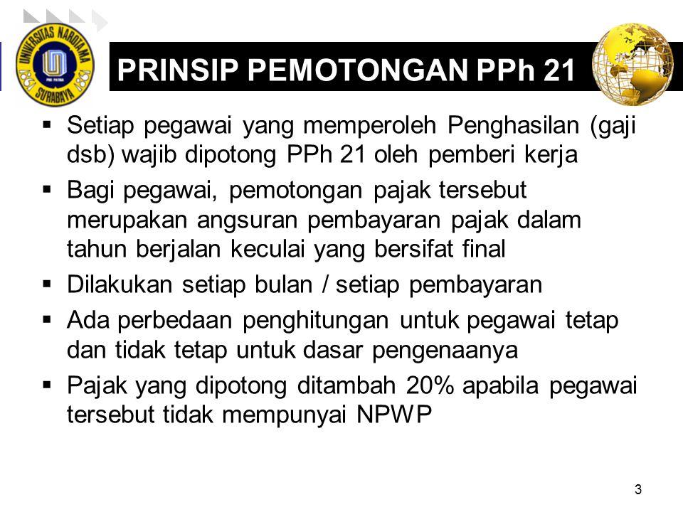 PRINSIP PEMOTONGAN PPh 21