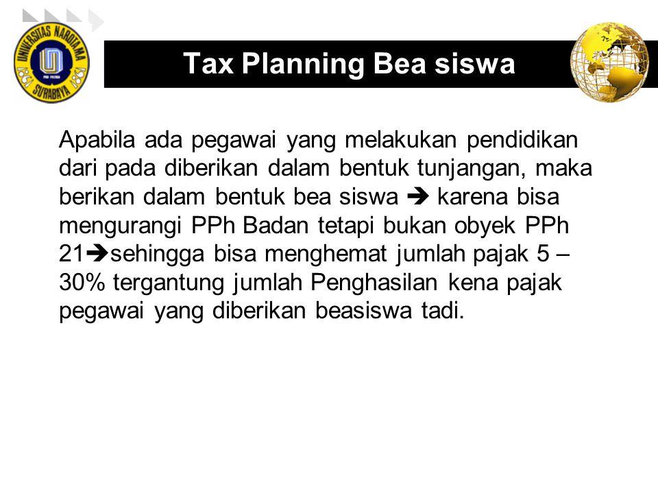 Tax Planning Bea siswa