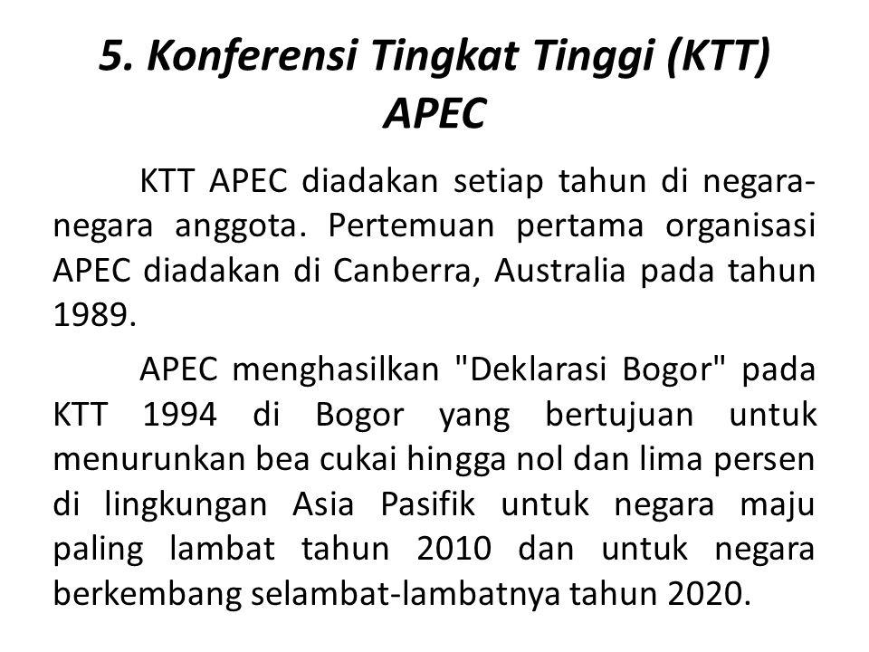 5. Konferensi Tingkat Tinggi (KTT) APEC