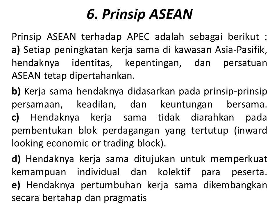 6. Prinsip ASEAN