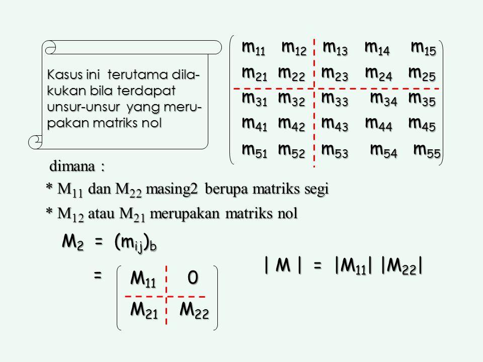 Fakultas Kehutanan Universitas Lambung Mangkurat. m11 m12 m13 m14 m15. m21 m22 m23 m24 m25.