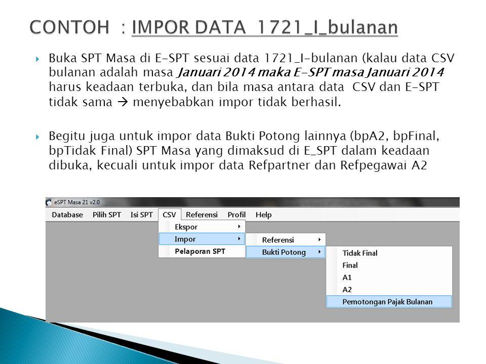 CONTOH : IMPOR DATA 1721_I_bulanan