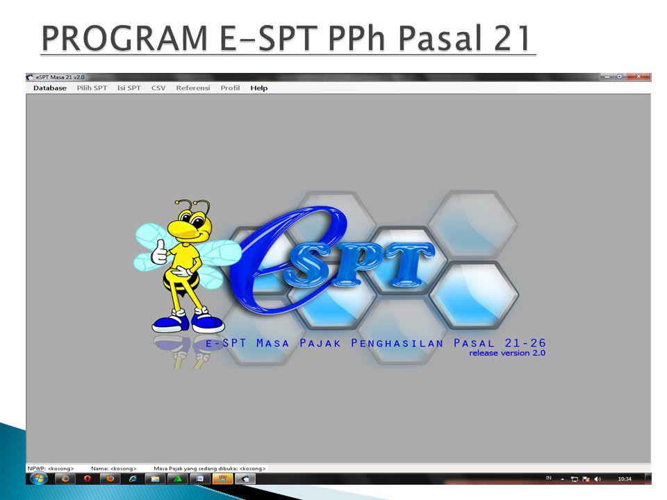 PROGRAM E-SPT PPh Pasal 21