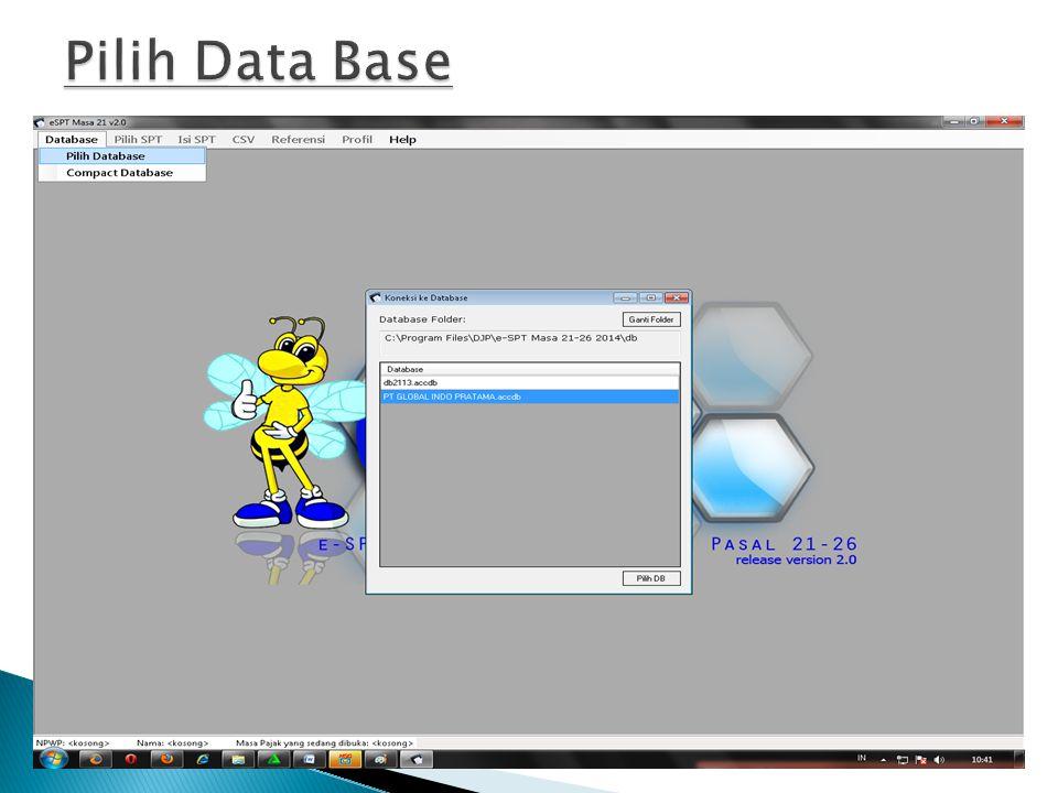 Pilih Data Base