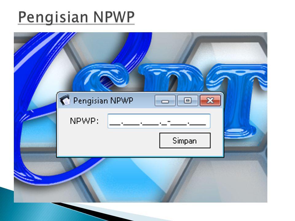 Pengisian NPWP