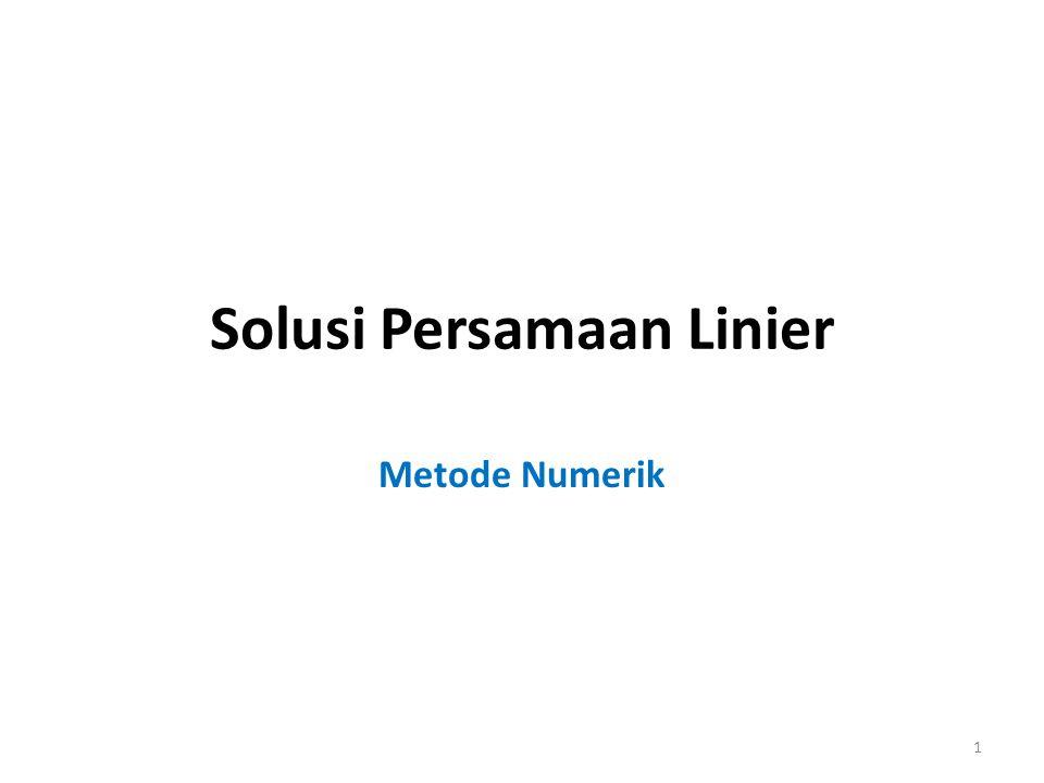 Solusi Persamaan Linier