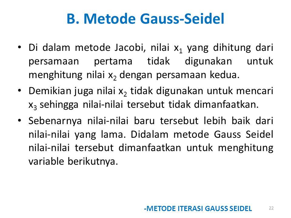 B. Metode Gauss-Seidel