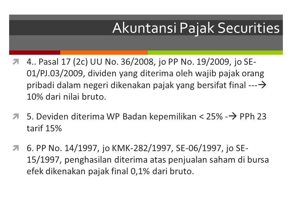 Akuntansi Pajak Securities