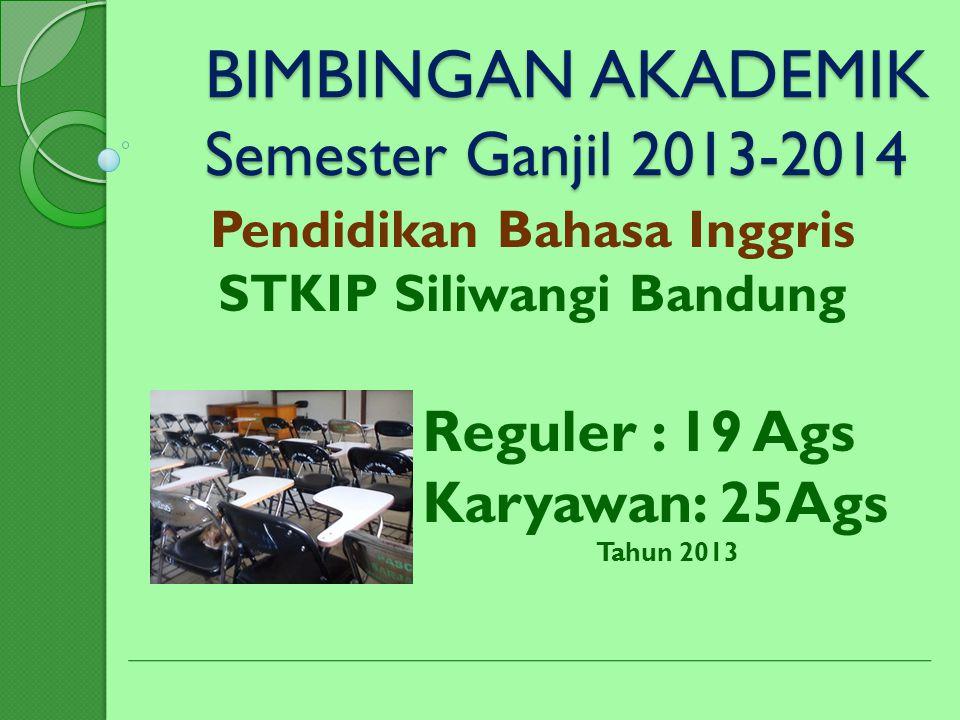 BIMBINGAN AKADEMIK Semester Ganjil 2013-2014