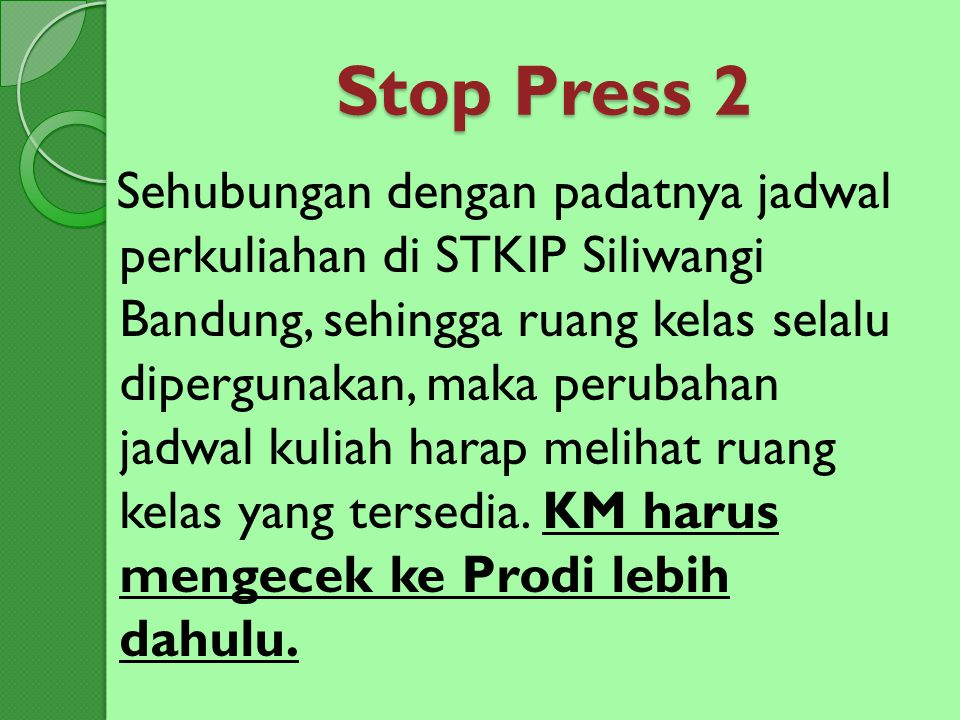 Stop Press 2