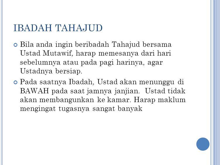 IBADAH TAHAJUD