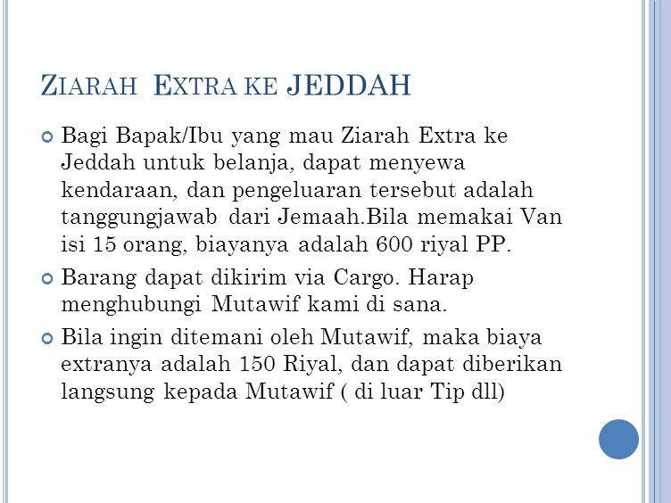 Ziarah Extra ke JEDDAH