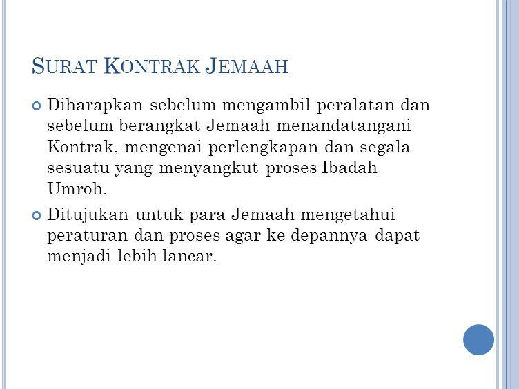 Surat Kontrak Jemaah