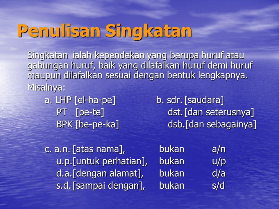 Penulisan Singkatan