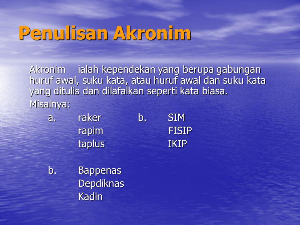 Penulisan Akronim