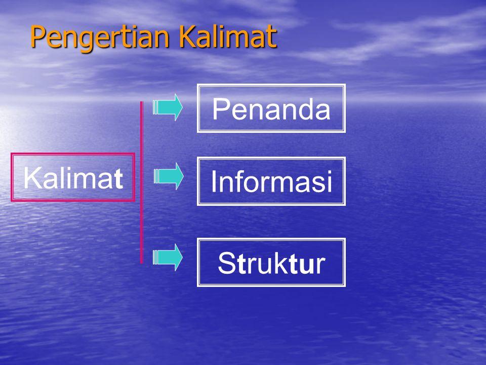 Pengertian Kalimat Penanda Kalimat Informasi Struktur