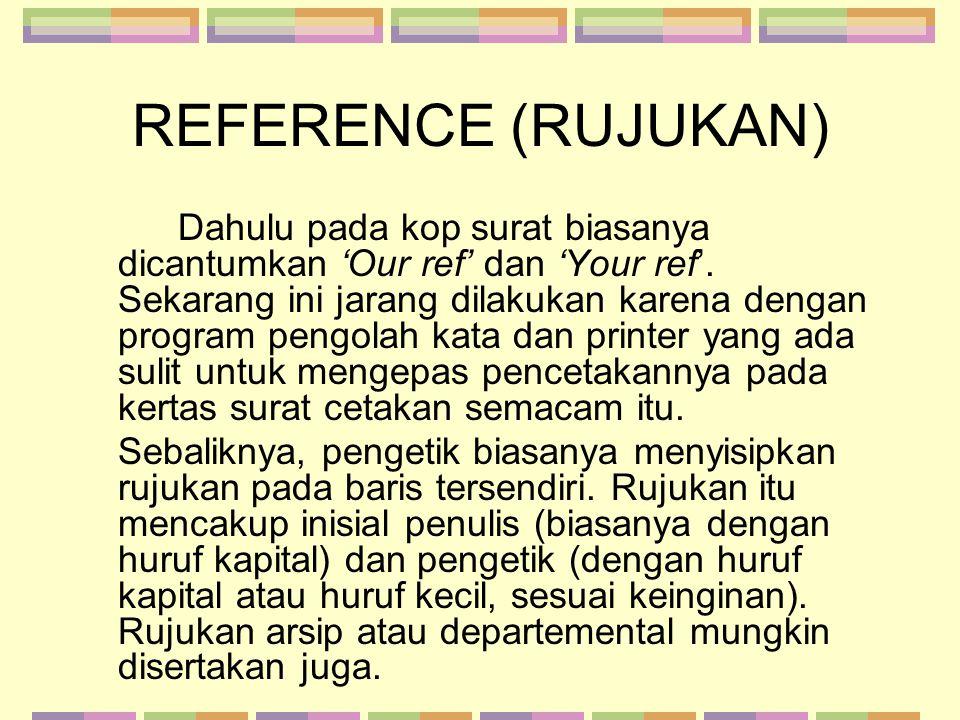 REFERENCE (RUJUKAN)