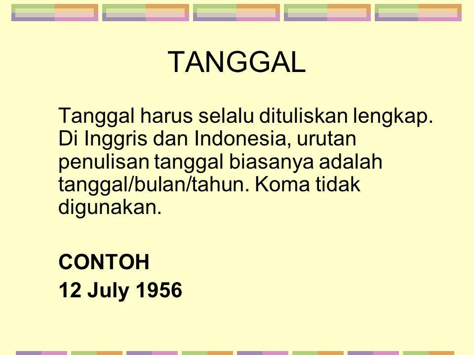 TANGGAL