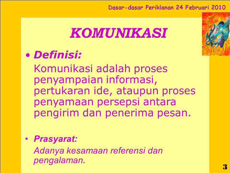 KOMUNIKASI Definisi: