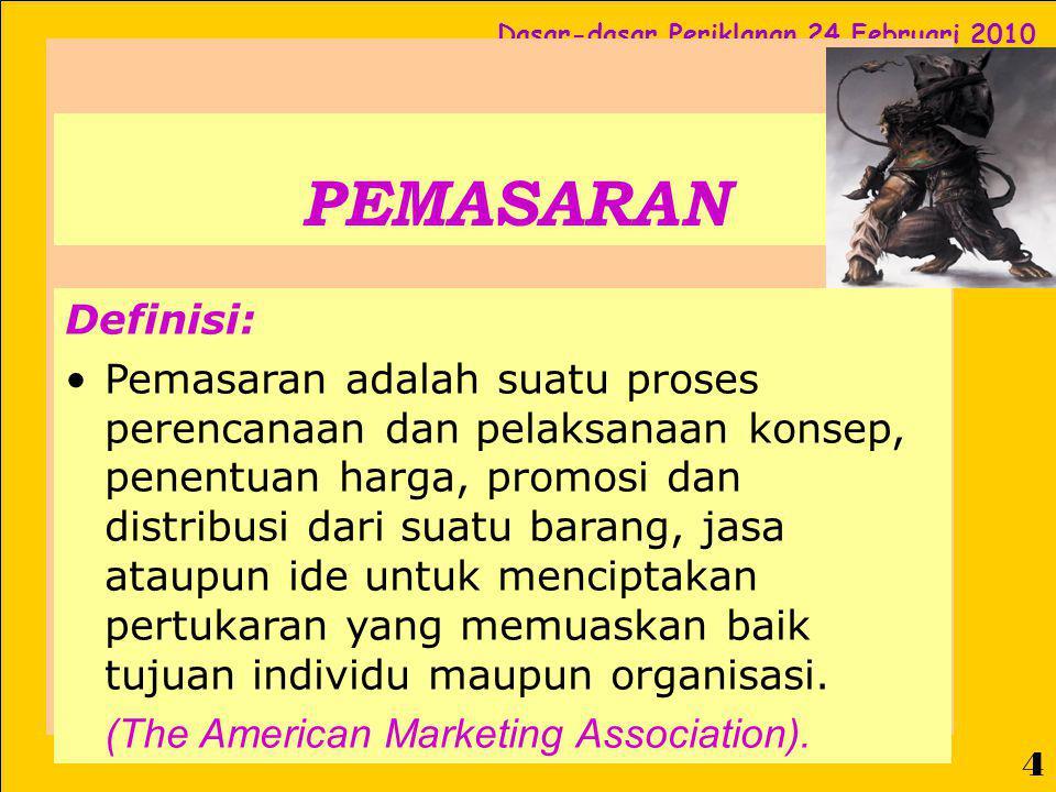 PEMASARAN Definisi: