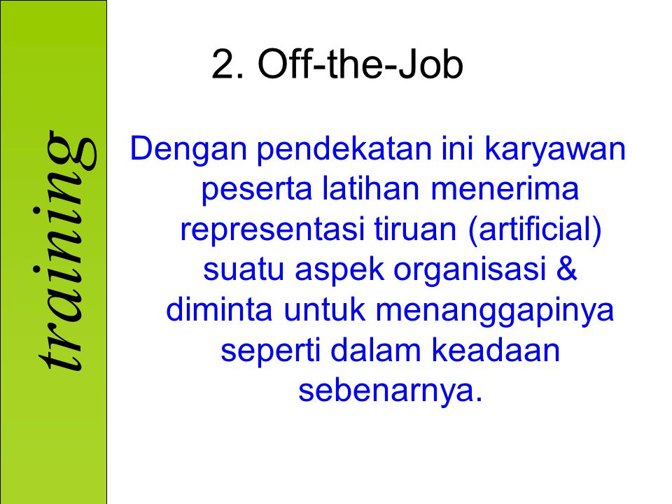2. Off-the-Job