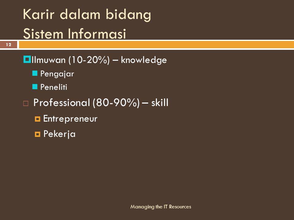 Karir dalam bidang Sistem Informasi