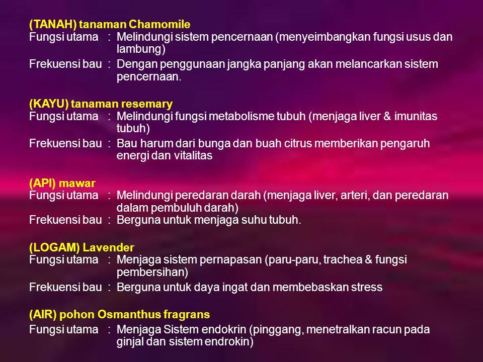 (TANAH) tanaman Chamomile Fungsi utama. :