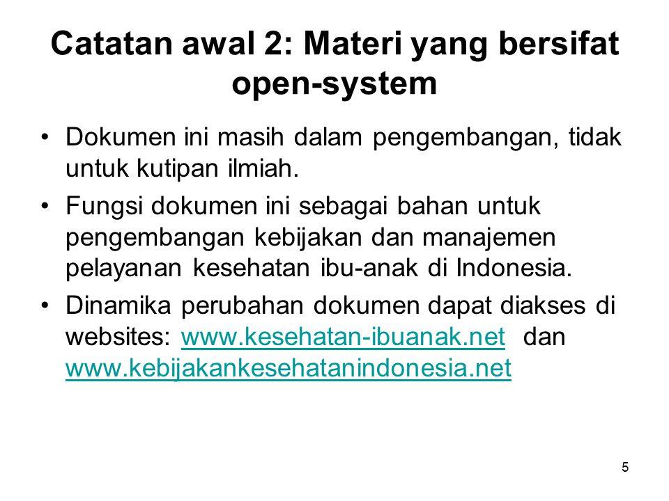 Catatan awal 2: Materi yang bersifat open-system