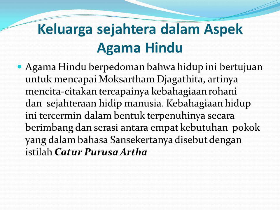 Keluarga sejahtera dalam Aspek Agama Hindu