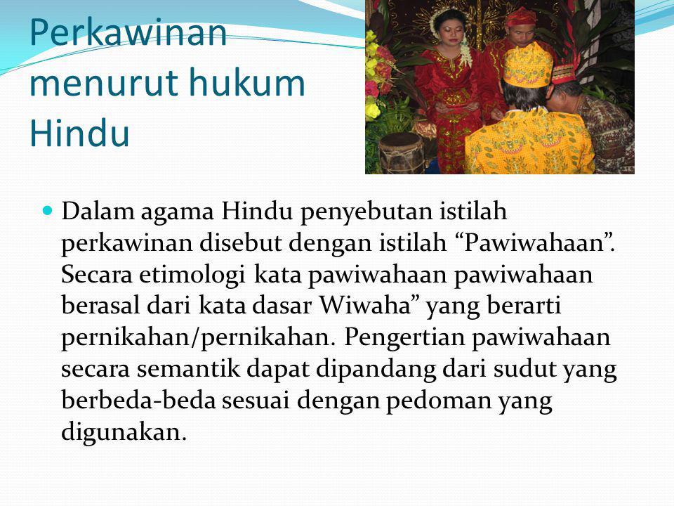 Perkawinan menurut hukum Hindu