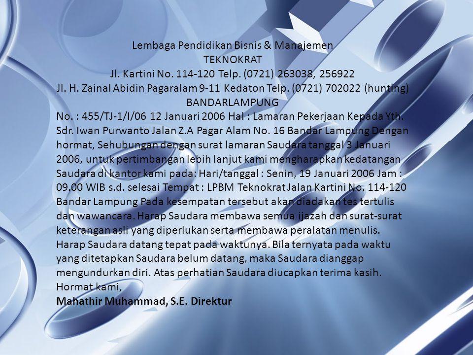 Lembaga Pendidikan Bisnis & Manajemen