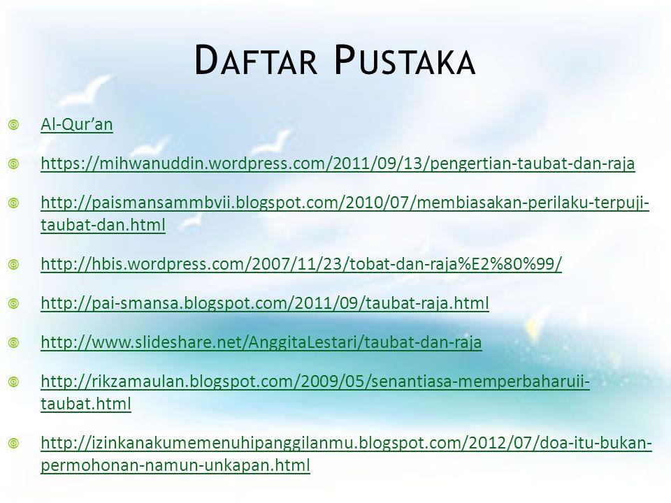 Daftar Pustaka Al-Qur'an