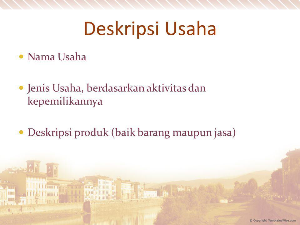 Deskripsi Usaha Nama Usaha